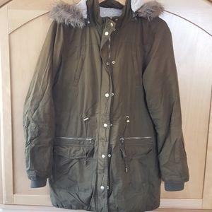 Reitmans olive green parka winter coat large
